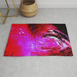 Abstract Red Storm by Robert S. Lee Rug