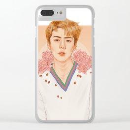 lotus [sehun exo] Clear iPhone Case