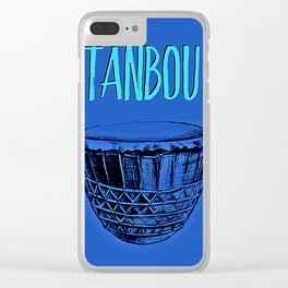 Tanbou(blue) Clear iPhone Case