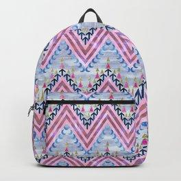 Pena Chevron Silver Backpack