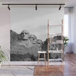 Mount Rushmore National Memorial South Dakota Presidents Faces Graphic Design Illustration Wall Mural