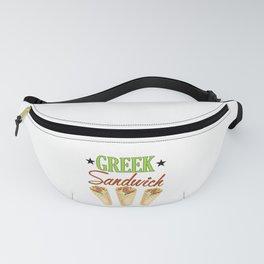 Greek Sandwich Greek Food Lover Fanny Pack