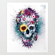 Skull Blue Art Print