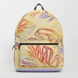 Autumn Leaves with trim on Buttercream - from the Lilac Buttercup colour palette collecti Backpack
