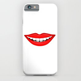 Smiling Mouth With White Teeth iPhone Case