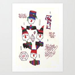 Geometric Gymnasts Art Print