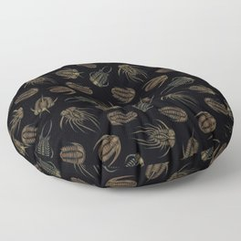 Trilobites - Marine Fossil Pattern Floor Pillow