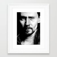 tom hiddleston Framed Art Prints featuring Tom Hiddleston by apostatemages
