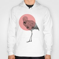 flamingo Hoodies featuring flamingo by morgan kendall