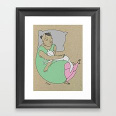 Sleeping With Your Best Friend Framed Art Print