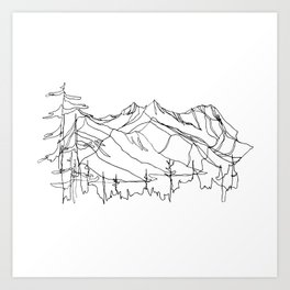 Squamish Summits :: Single Line Kunstdrucke