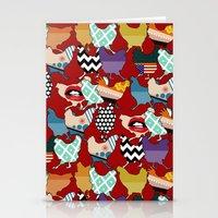 cincinnati Stationery Cards featuring Cincinnati Chickens red by Sharon Turner