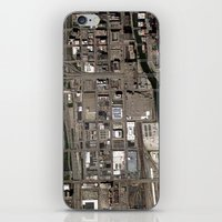 chicago map iPhone & iPod Skins featuring Chicago  by Mark John Grant