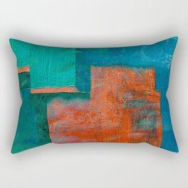 गंगा के किनारे (The Shores of Ganges) Rectangular Pillow