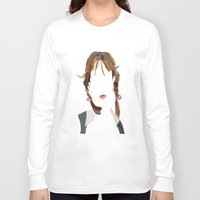 britney Long Sleeve T-shirts featuring Britney by Bethany Mallick