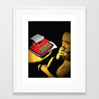 infamous Framed Art Prints featuring Infamous Russian Writer by Skinny Gaviar
