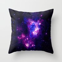 nebula Throw Pillows featuring nebulA. by 2sweet4words Designs