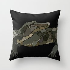Mellifluous Crocodiles Throw Pillow