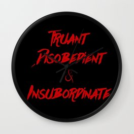 Truant, Disobedient, and Insubordinate Wall Clock