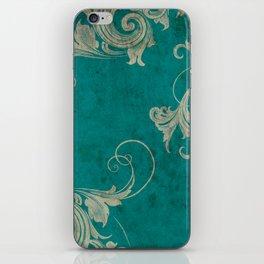 baroque curl iPhone Skin