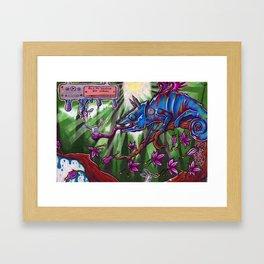 Cha-cha-cha-meleon Framed Art Print