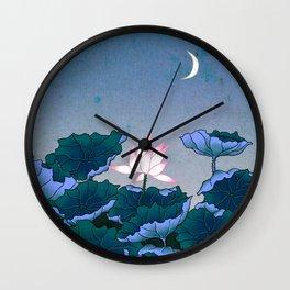 Minhwa: Lotus Pond at Night B Type Wall Clock
