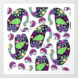 Turkish cucumber pattern #D12 Art Print