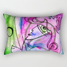 Abstract Nude Goddess No. 40E by Kathy Morton Stanion Rectangular Pillow