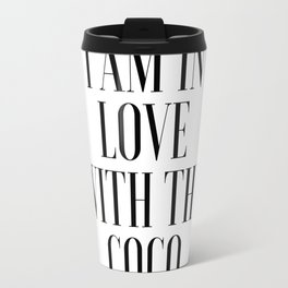 Poster I am In Love With The Coco Song Lyrics Printable Art Lyrics Art Gift For Her Fashionista Travel Mug