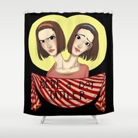 ahs Shower Curtains featuring AHS Twins by Raygor