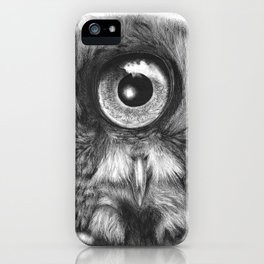 Evolution: Great Gray Owl iPhone Case