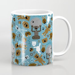 Crazy MonkeyTeddyBears Pattern Coffee Mug