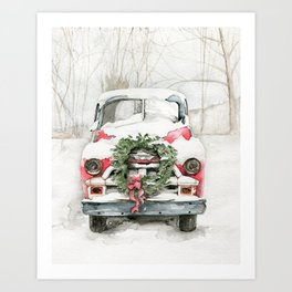 Dad's Old Chevy Art Print