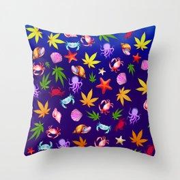 My Crabby Cannabis Throw Pillow