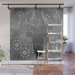 REINDEER AND DIAMONDS Wall Mural