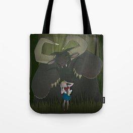 Monster girl in Horrorcolor Tote Bag
