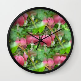 Bleeding Hearts - Dicentra Wall Clock