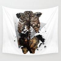 anatomy Wall Tapestries featuring human anatomy by Kimmaira