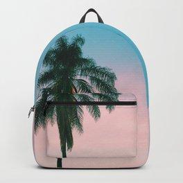 Pastel Sky Palm Tree - Los Angeles, California Backpack