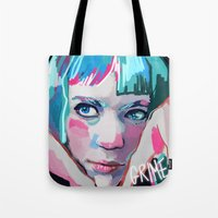 grimes Tote Bags featuring Grimes by Tiffany Baxter