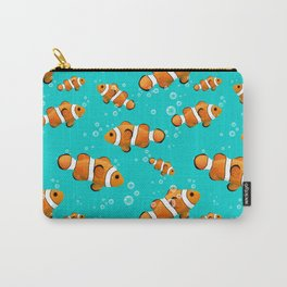 Tropical Clownfish Pattern Carry-All Pouch