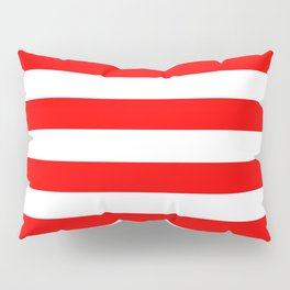 Horizontal Stripes (Red/White) Pillow Sham