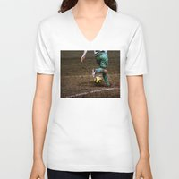 football V-neck T-shirts featuring Football by Goncalo