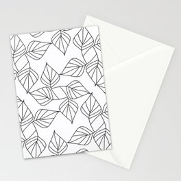 Black and white leaves. Stationery Cards