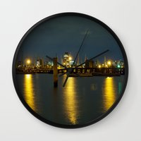 melbourne Wall Clocks featuring Melbourne by popbones