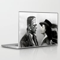 casablanca Laptop & iPad Skins featuring FRANKENSTEIN IN CASABLANCA by Luigi Tarini