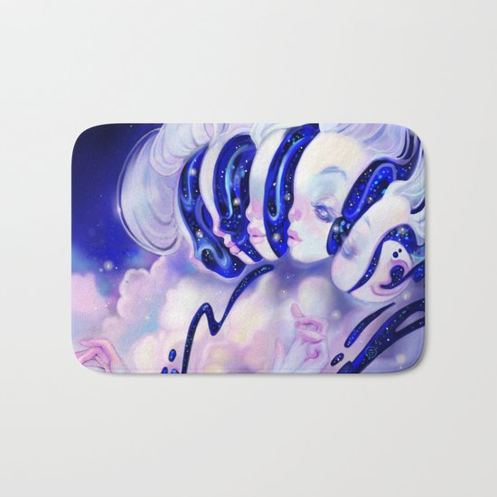 Moon Faces Bath Mat