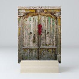 Old Ristra Door Mini Art Print