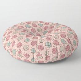 Ball of knitting yarn crafts seamless pattern Floor Pillow