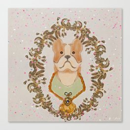 Sgt. Stubby Ultimate Boston Terrier Good Boy WWI Hero With Confetti Canvas Print